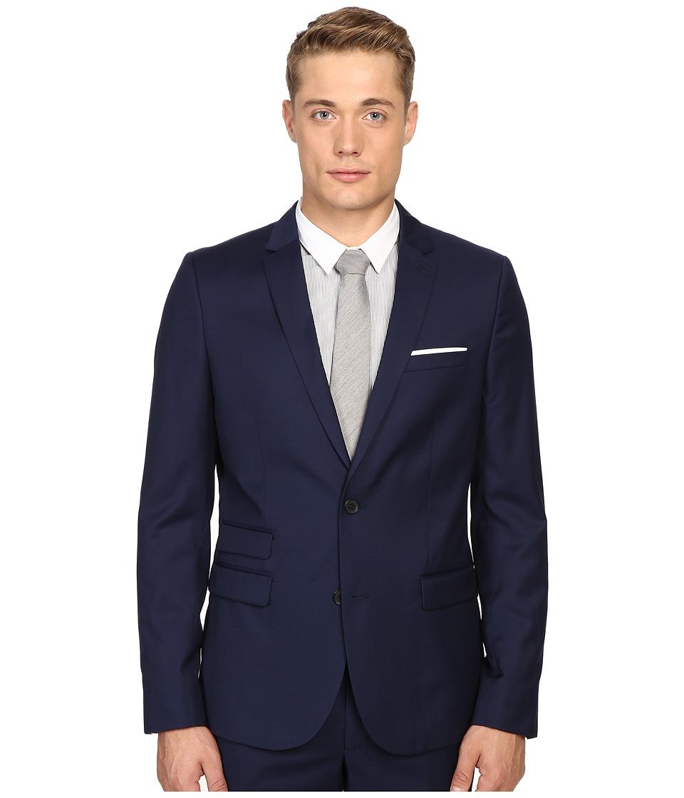 The Kooples - Fitted Suit Jacket w/ Pocket Square (Blue) Men's Jacket