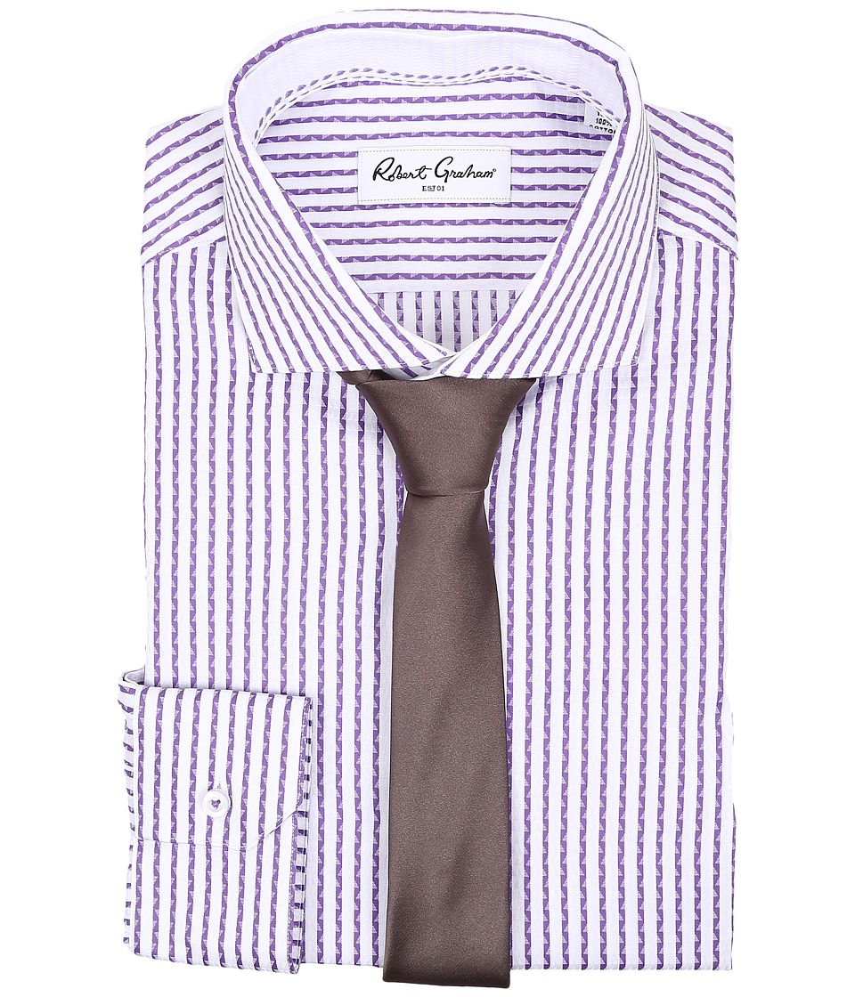 Robert Graham - Benjamin Dress Shirt (Purple) Men's Long Sleeve Button Up