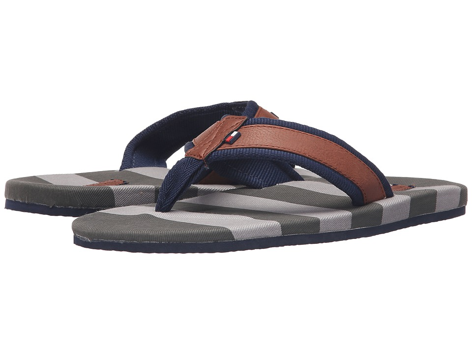 Tommy Hilfiger - Marley 2 (Brown/Navy) Men's Sandals