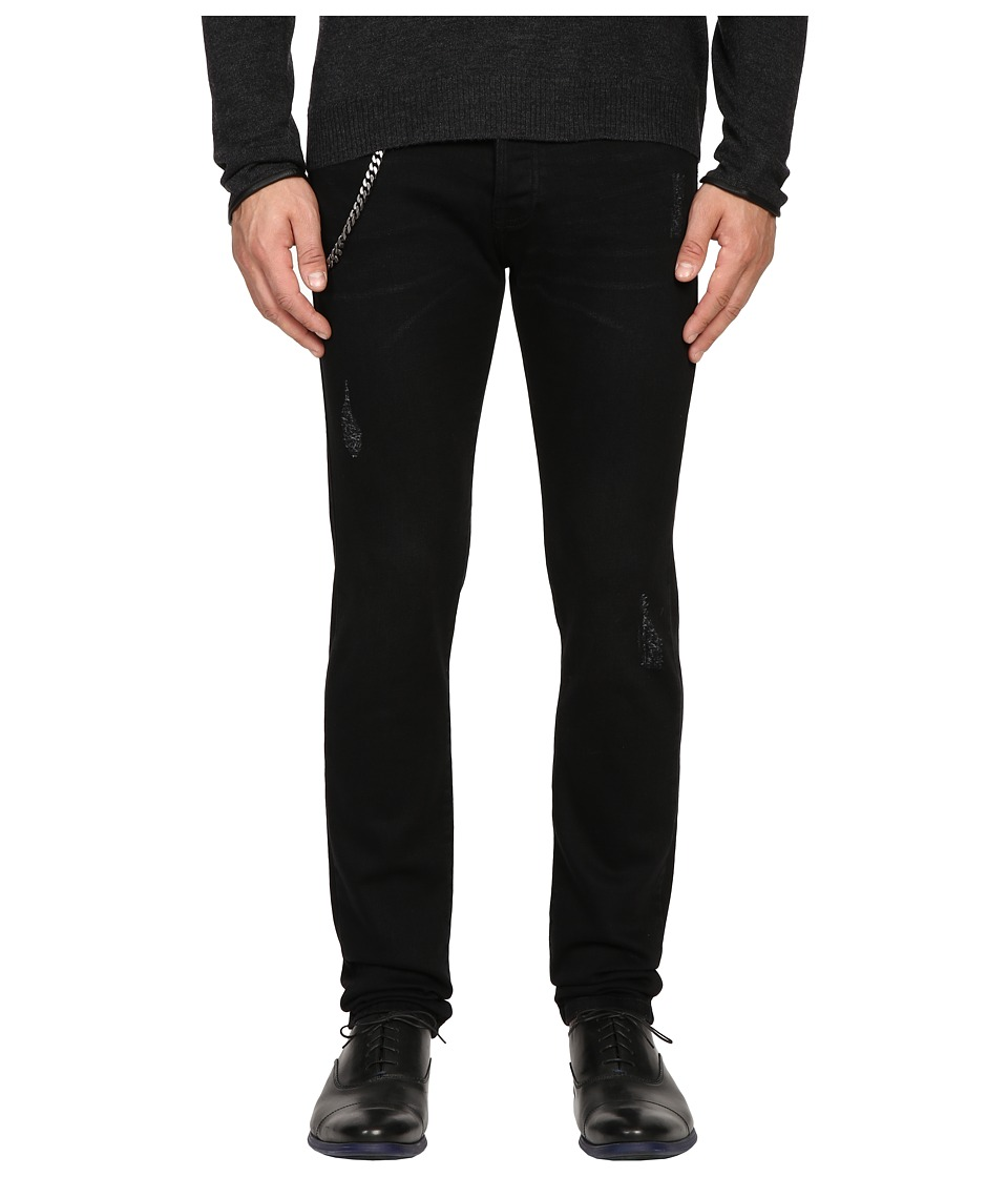 The Kooples - Fitted Denim w/ Chain in Black (Black) Men's Jeans