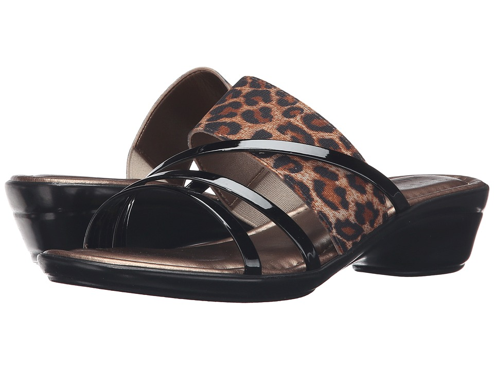 Easy Street - Atessa (Leopard/Black) Women's Shoes