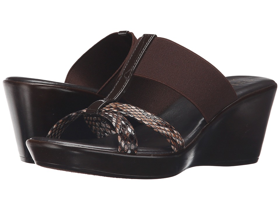Easy Street - Ascea (Brown Patent Snake) Women's Shoes