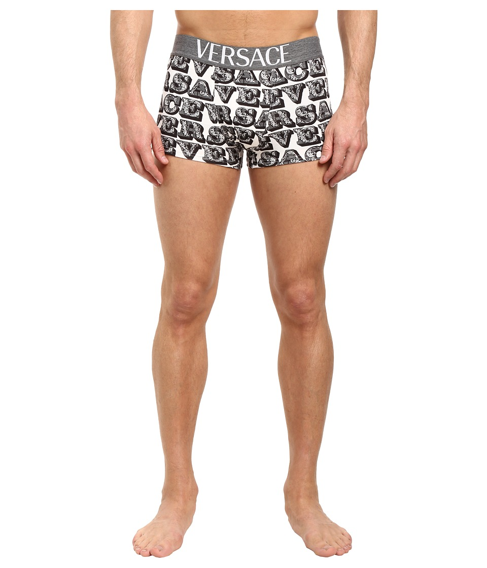 Versace - Apollo Print Brief (White/Black/Grey) Men's Underwear