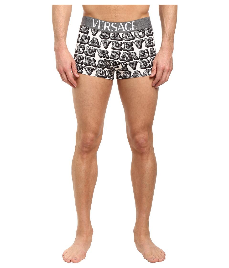 Versace - Apollo Print Brief (White/Black/Grey) Men's Underwear
