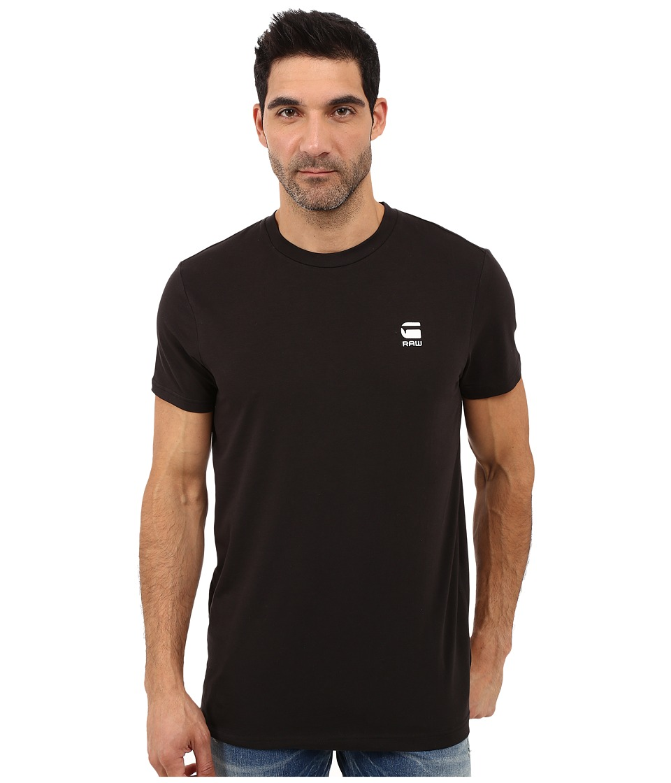 G-Star - Rence Short Sleeve Tee in Wigston Stretch Jersey (Black) Men's T Shirt
