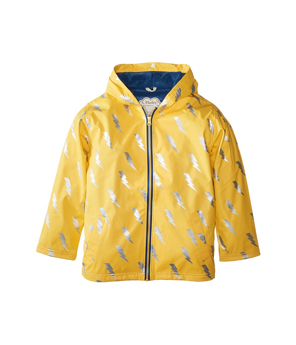 Hatley Kids - Lightening Bolt Splash Jacket (Toddler/Little Kids/Big Kids) (Yellow) Boy's Coat