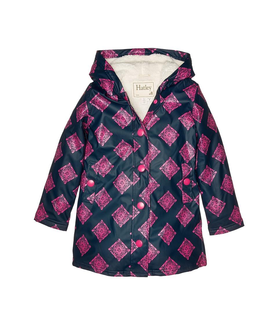Hatley Kids - Sherpa Lined Splash Jacket (Toddler/Little Kids/Big Kids) (Blue) Girl's Coat