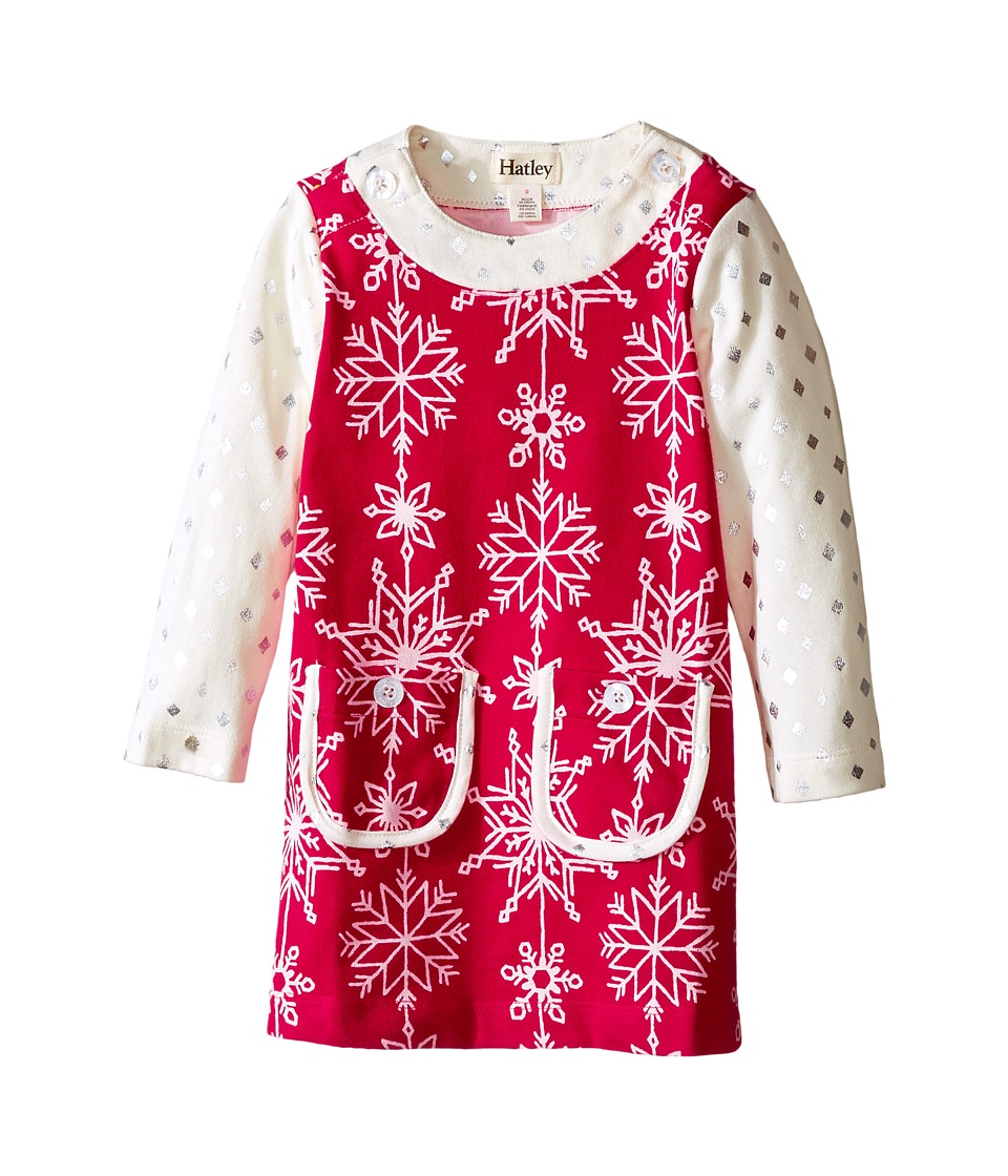Hatley Kids - Pretty Snowflakes Mod Dress (Toddler/Little Kids/Big Kids) (Red) Girl's Dress