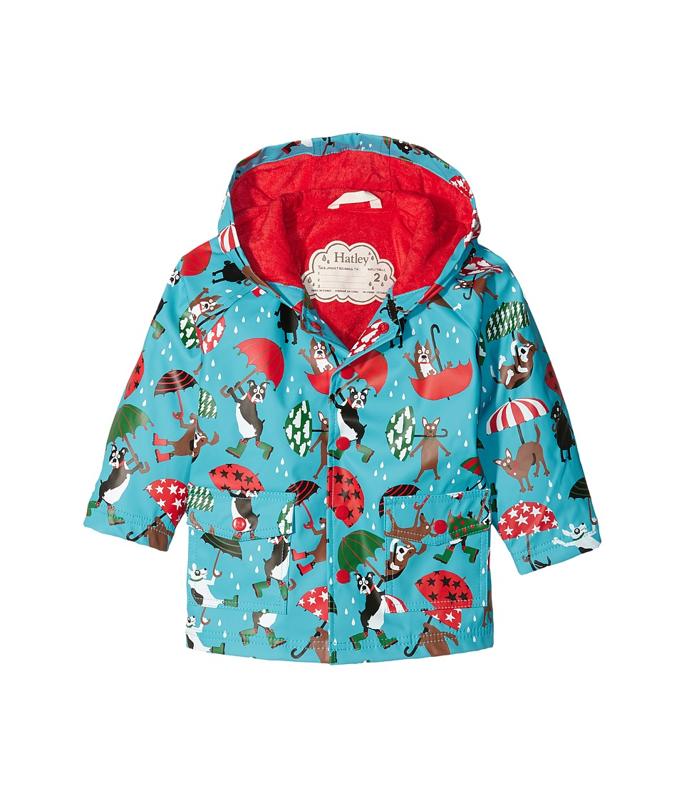 Hatley Kids - Raining Dogs Raincoat (Toddler/Little Kids/Big Kids) (Blue) Boy's Coat