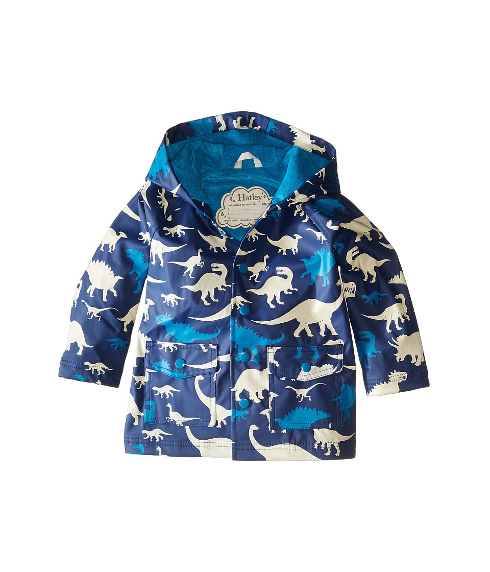 Hatley Kids - Silhouette Dinos Raincoat (Toddler/Little Kids/Big Kids) (Blue) Boy's Coat