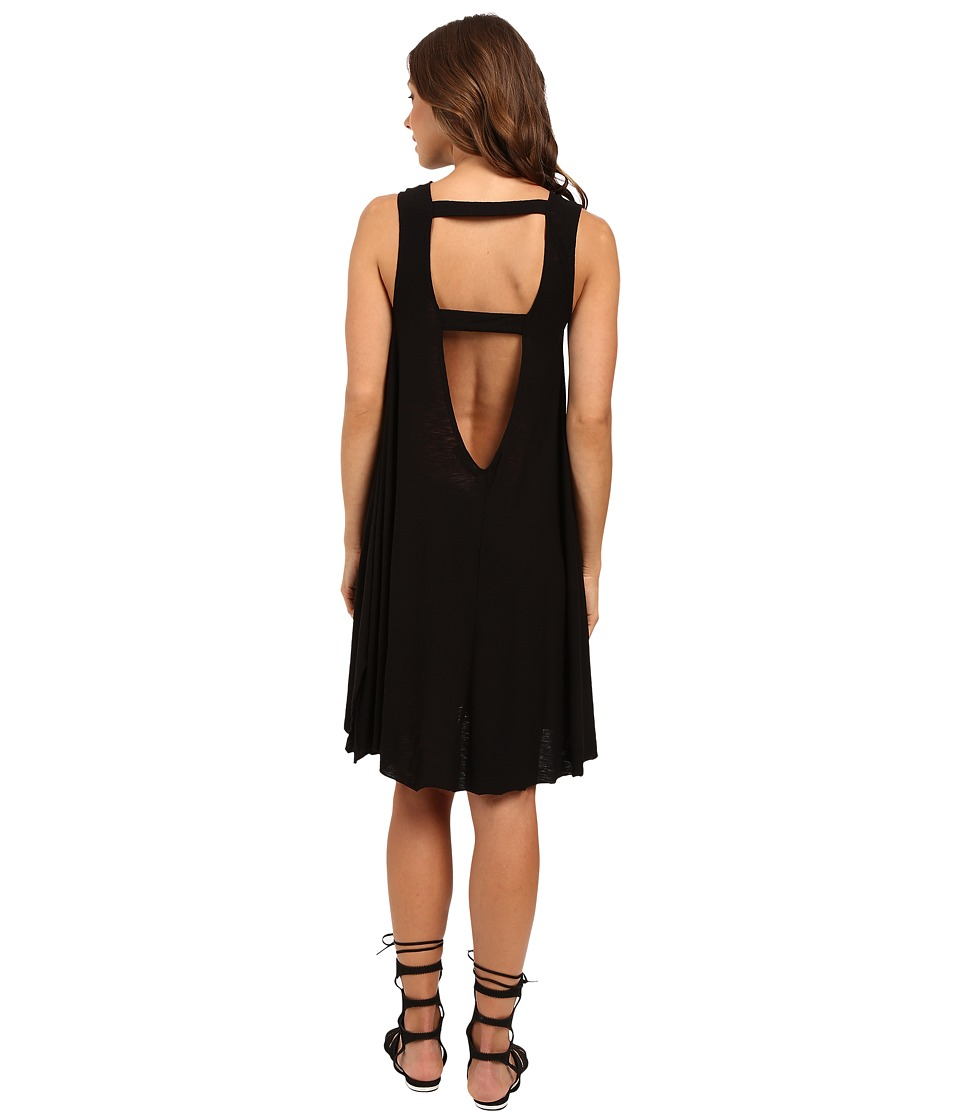 Culture Phit - Racquel Low Back-V with Strap Detail (Black) Women's Clothing
