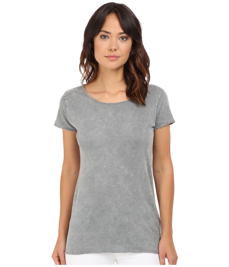 Culture Phit - Teyha Round Neck Short Sleeve Top (Grey) Women's Clothing