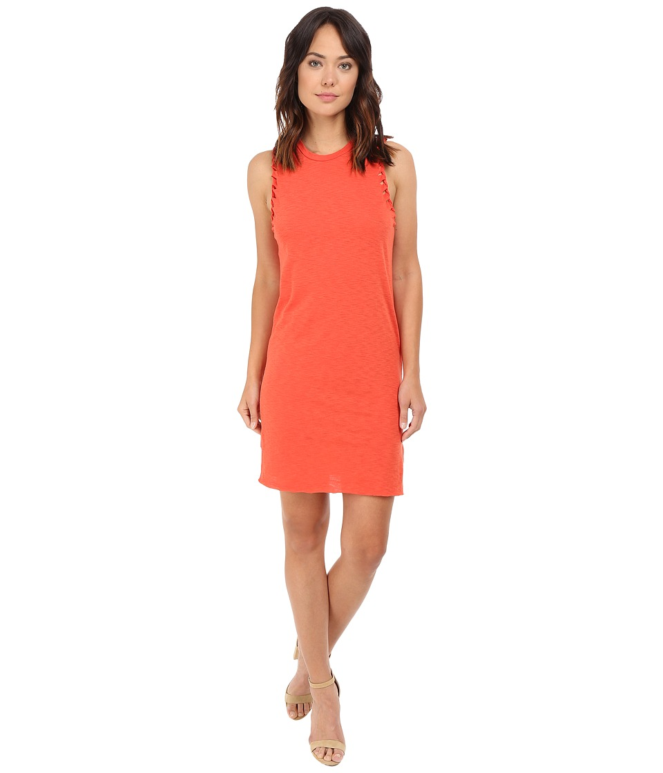 Culture Phit - Nadia Laser Cut Tank Dress with Twist (Tomato) Women's Dress