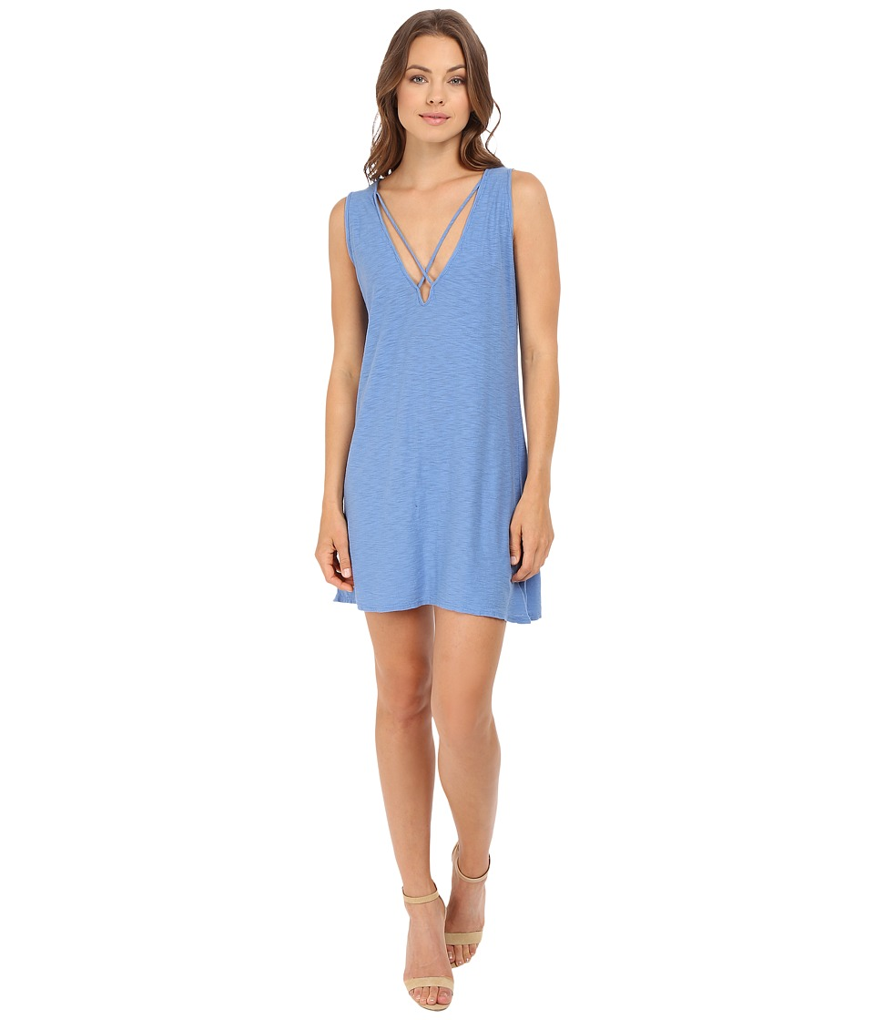 Culture Phit - Palma V-Neck Cross-Strap Tank Dress (Riviera) Women's Dress