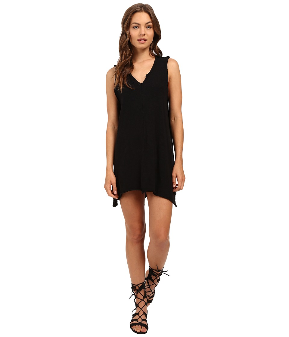 Culture Phit - Rae Oversized Sleeveless Dress with Front Slit (Black) Women's Dress