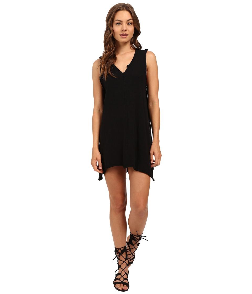 Culture Phit Rae Oversized Sleeveless Dress with Front Slit (Black) Women