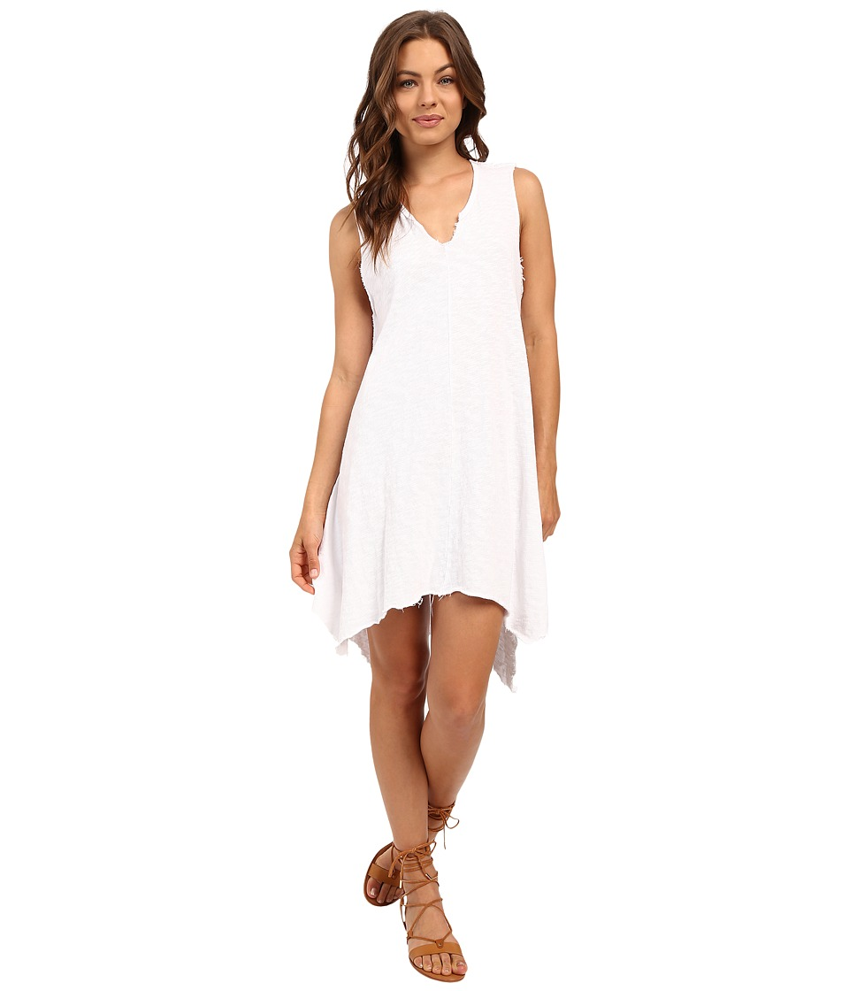 Culture Phit - Rae Oversized Sleeveless Dress with Front Slit (White) Women's Dress