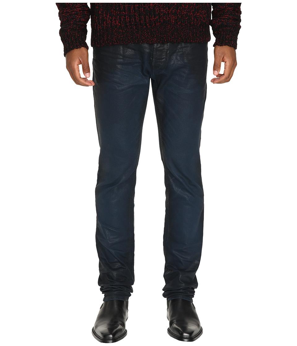 Just Cavalli - Essential Slim Fit Dye and Skin Effect Denim (Insignia Blue) Men's Jeans
