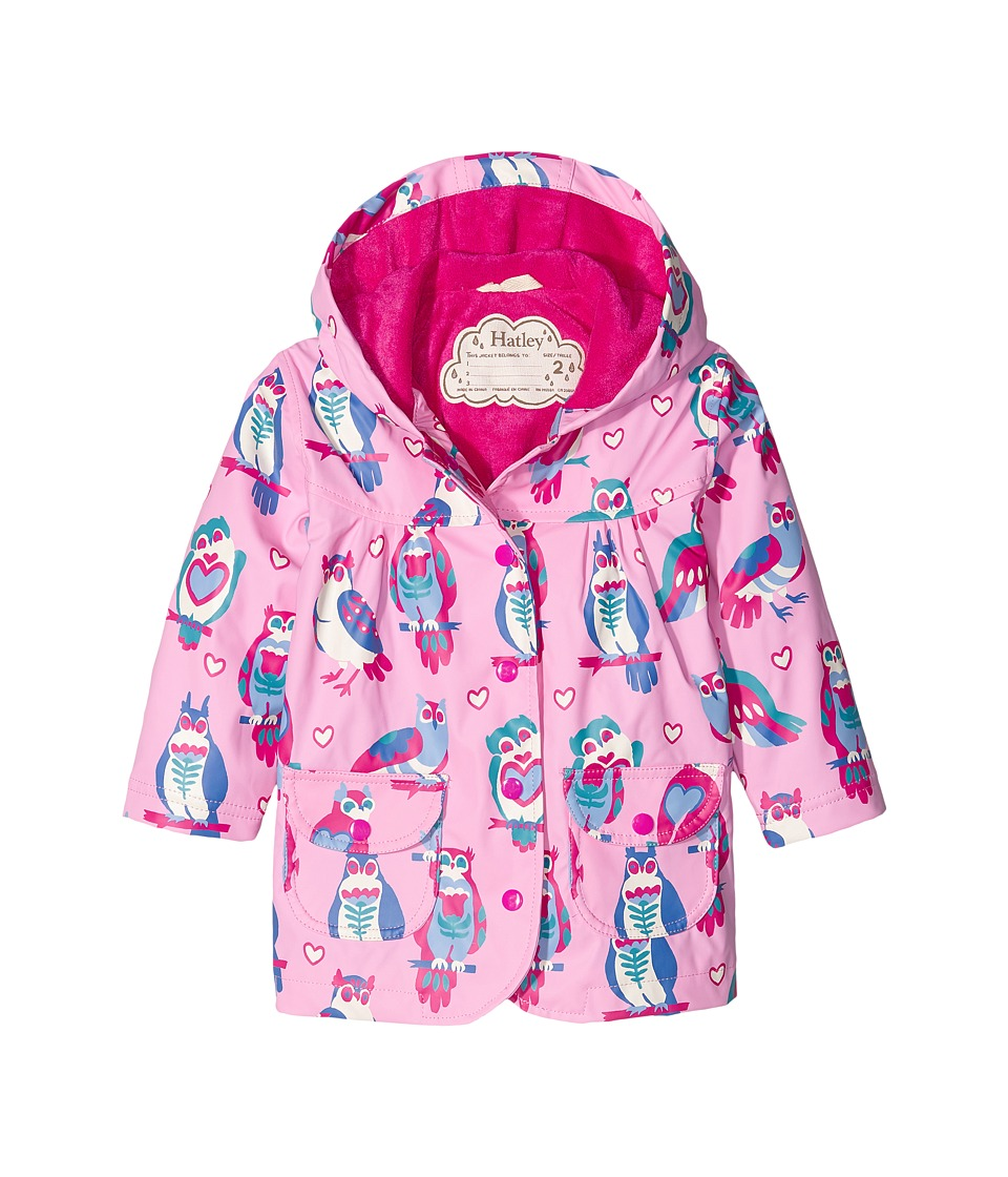 Hatley Kids - Happy Owls Raincoat (Toddler/Little Kids/Big Kids) (Pink) Girl's Coat
