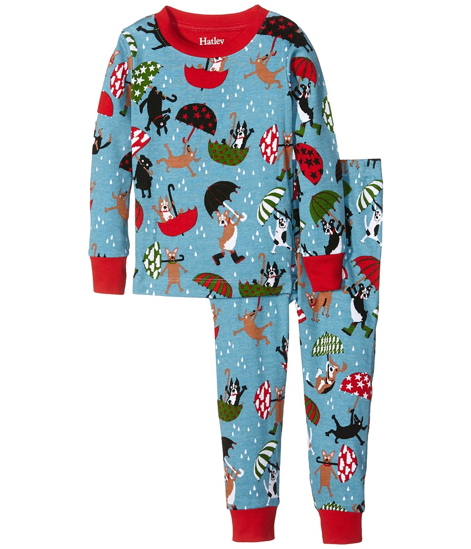 Hatley Kids - Raining Dogs Pajama Set (Toddler/Little Kids/Big Kids) (Blue) Boy's Pajama Sets