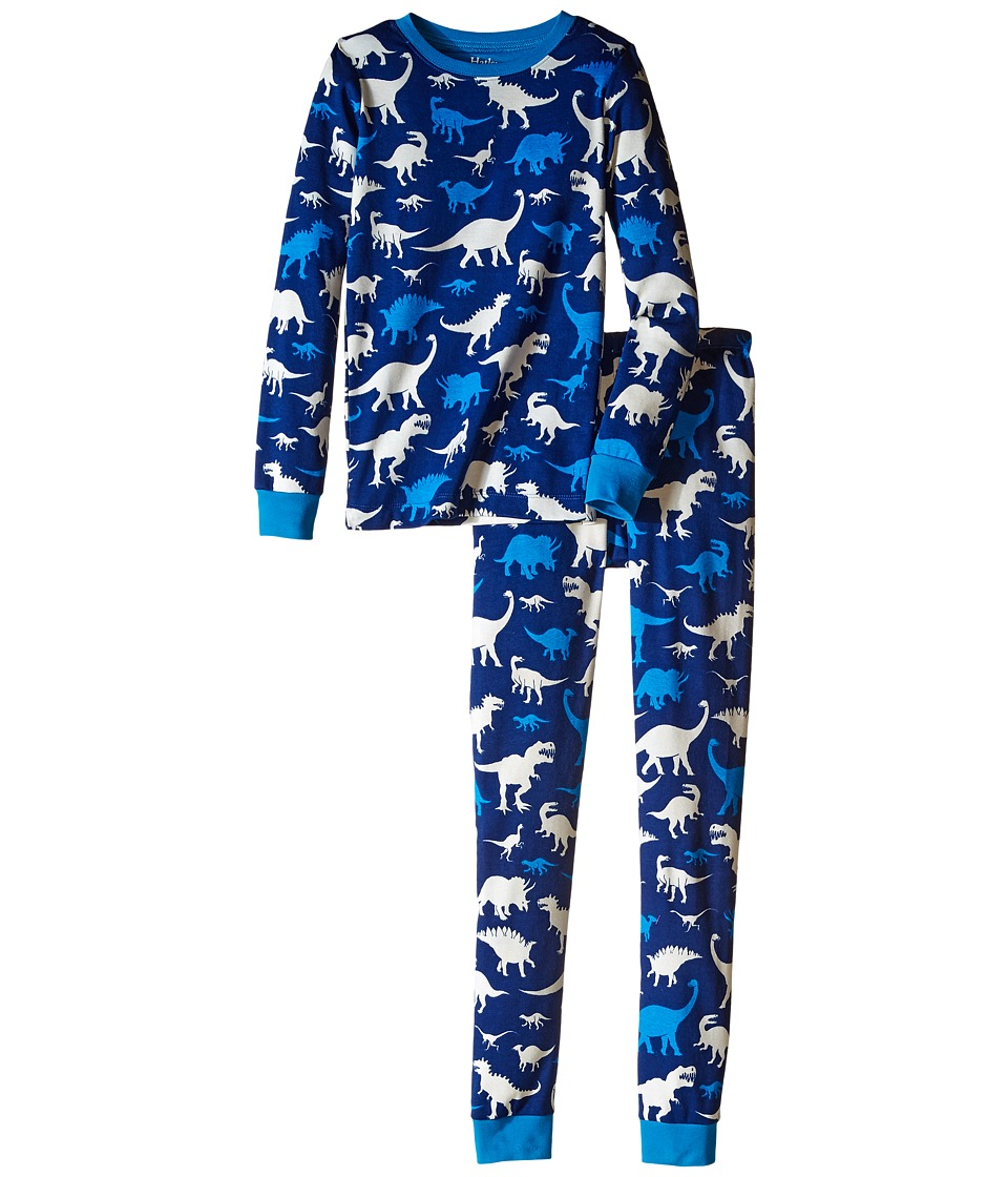 Hatley Kids - Silhouette Dinos Pajama Set (Toddler/Little Kids/Big Kids) (Blue) Boy's Pajama Sets
