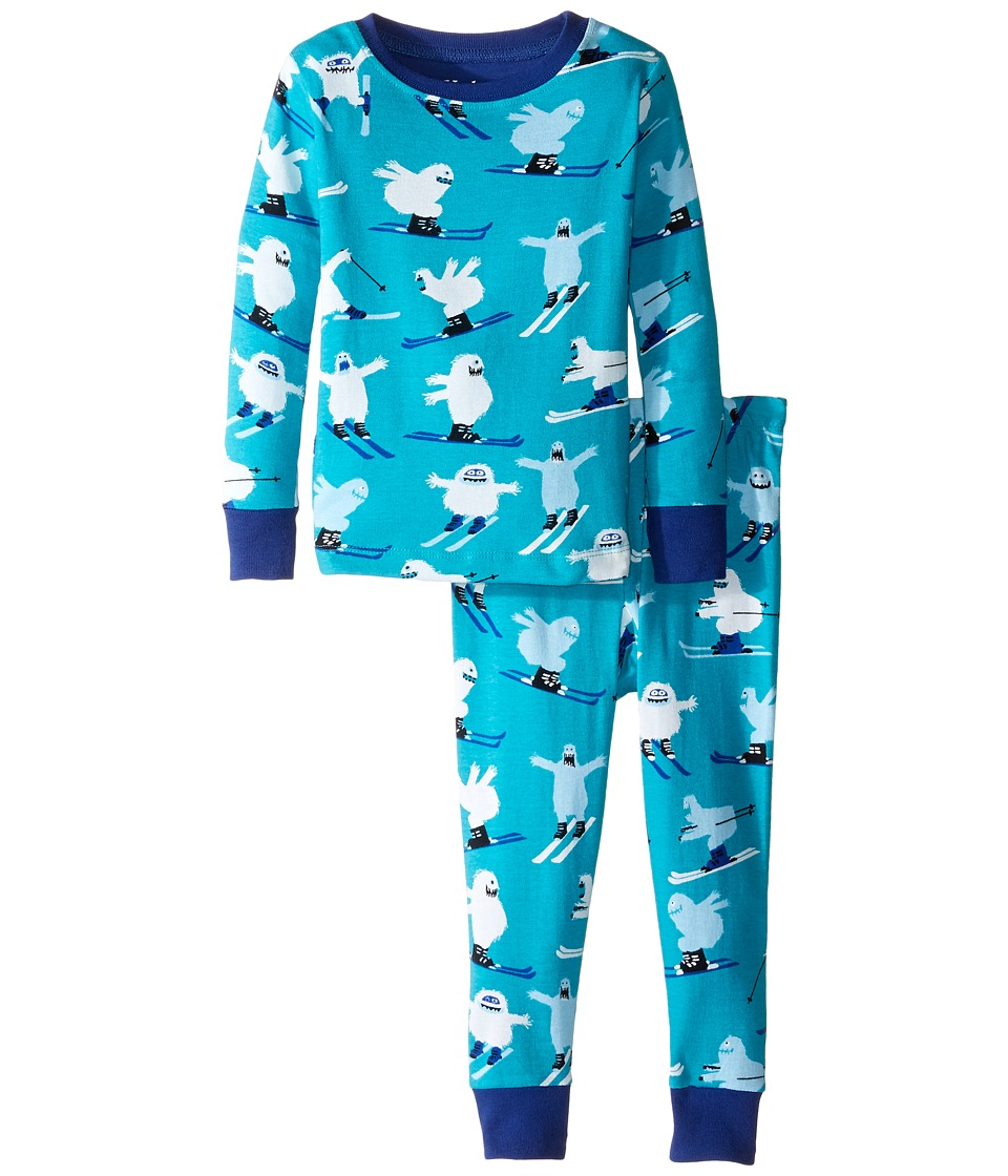 Hatley Kids - Ski Monsters Pajama Set (Toddler/Little Kids/Big Kids) (Blue) Boy's Pajama Sets
