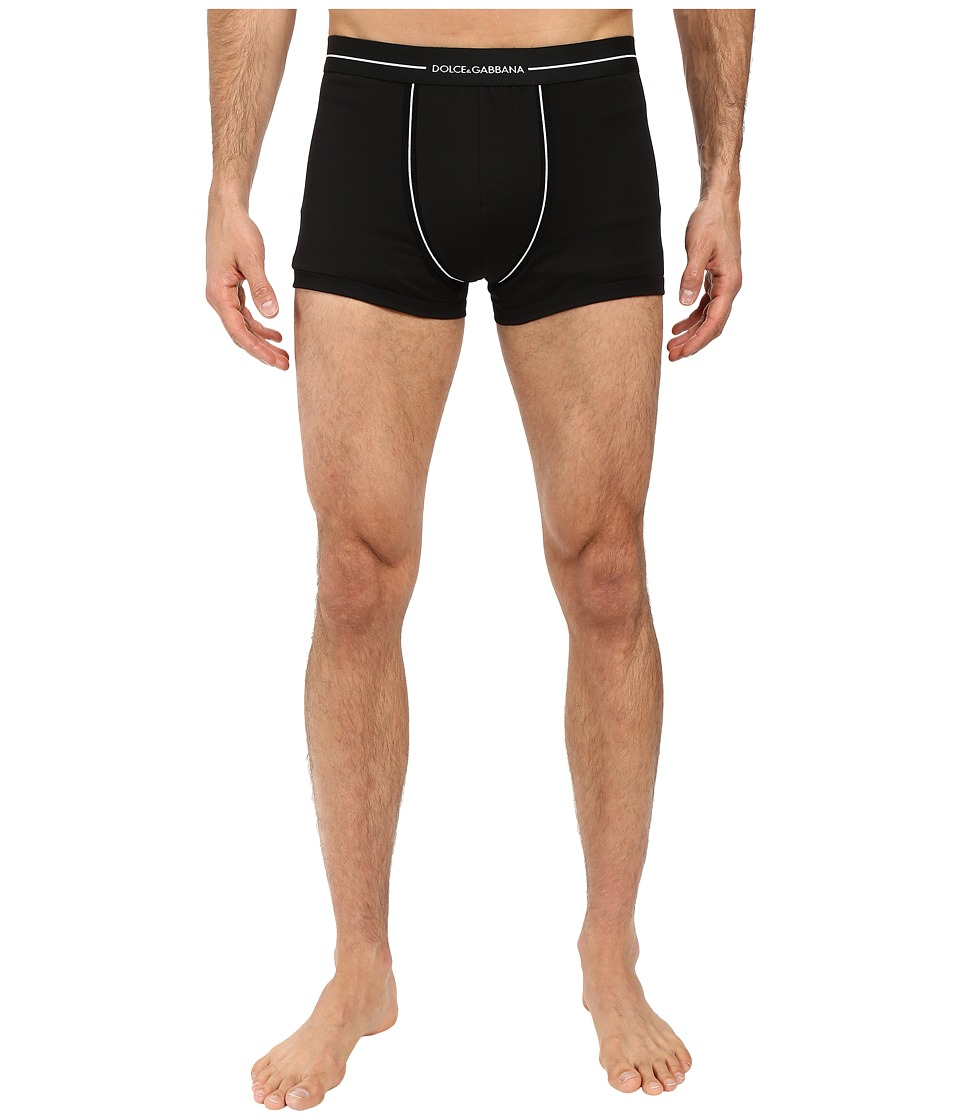 Dolce & Gabbana - Knitted Cotton Regular Boxer (Black) Men's Underwear