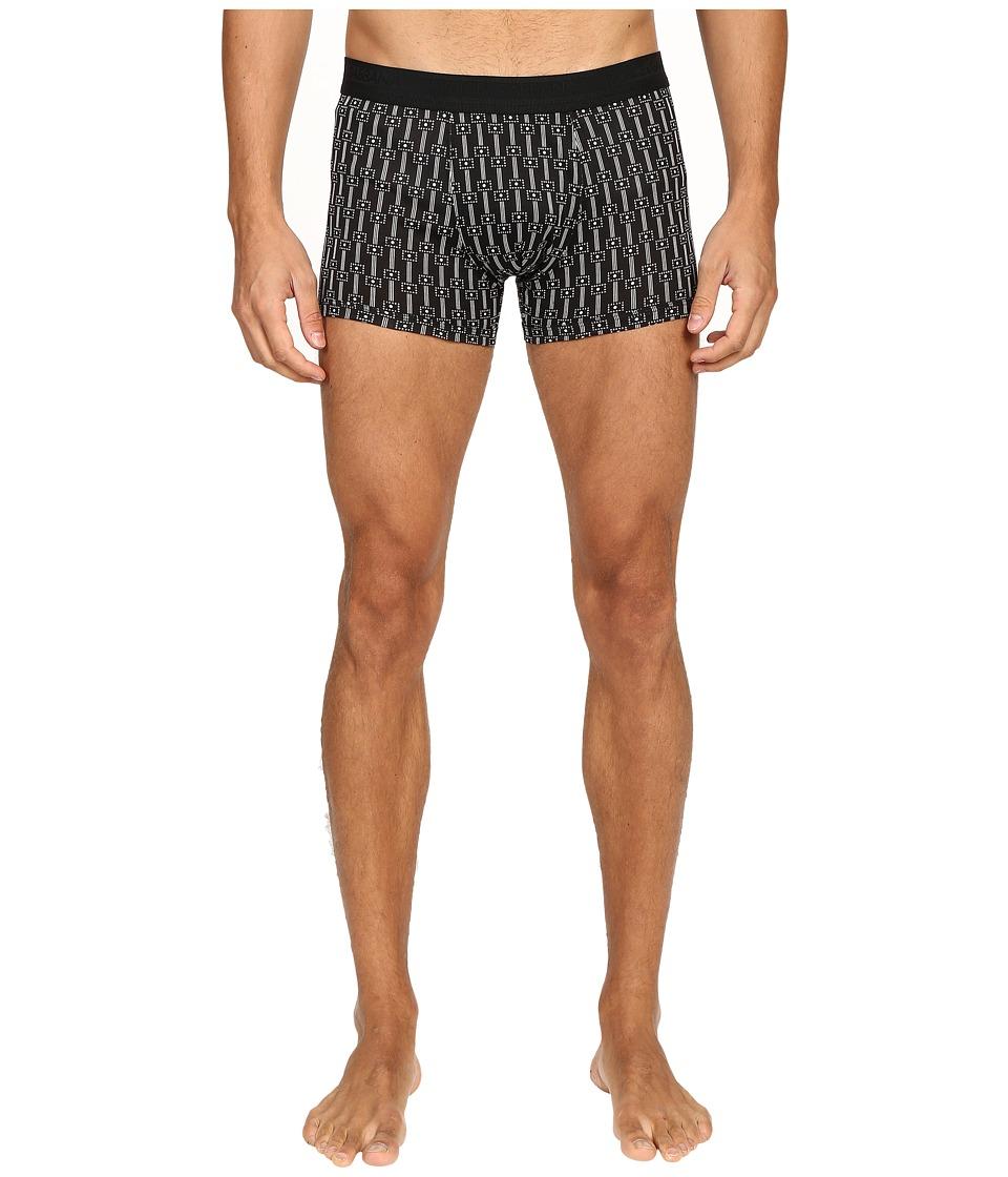 Dolce & Gabbana - Abstract Stripes Print Regular Boxer (Black) Men's Underwear