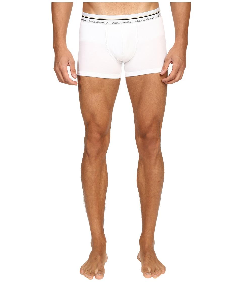 Dolce & Gabbana - Stretch Cotton Mako' Regular Boxer (White) Men's Underwear
