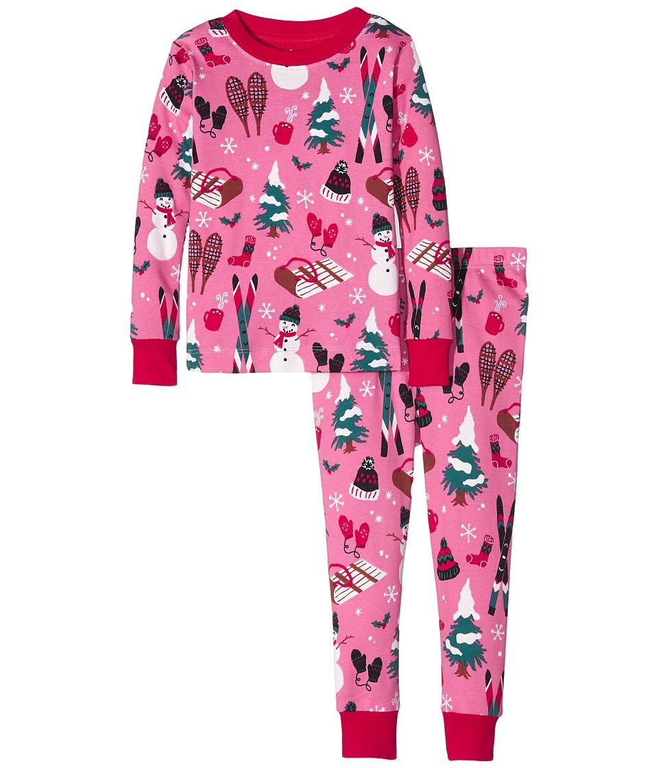 Hatley Kids - Vintage Holiday Pajama Set (Toddler/Little Kids/Big Kids) (Pink) Girl's Pajama Sets