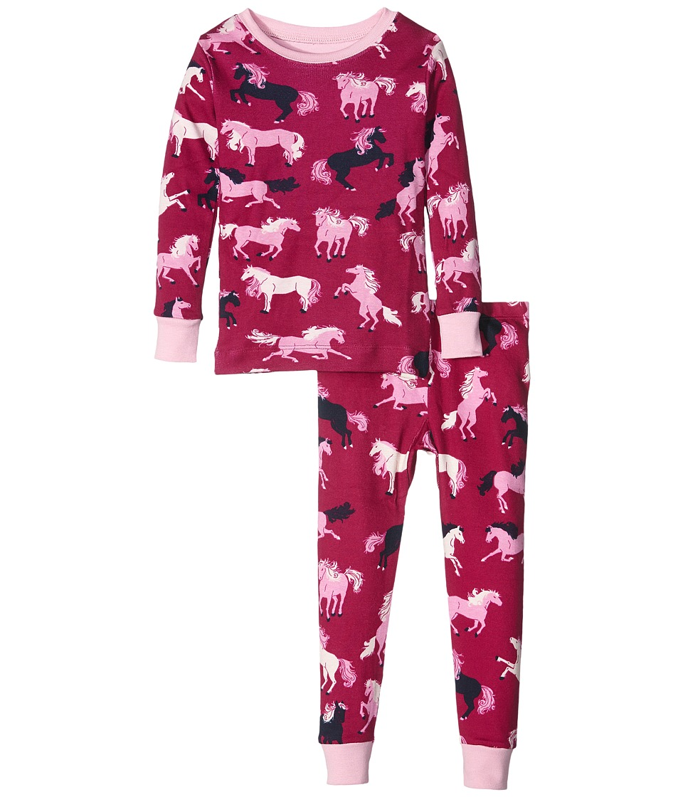 Hatley Kids - Fairy Tale Horses Pajama Set (Toddler/Little Kids/Big Kids) (Pink) Girl's Pajama Sets