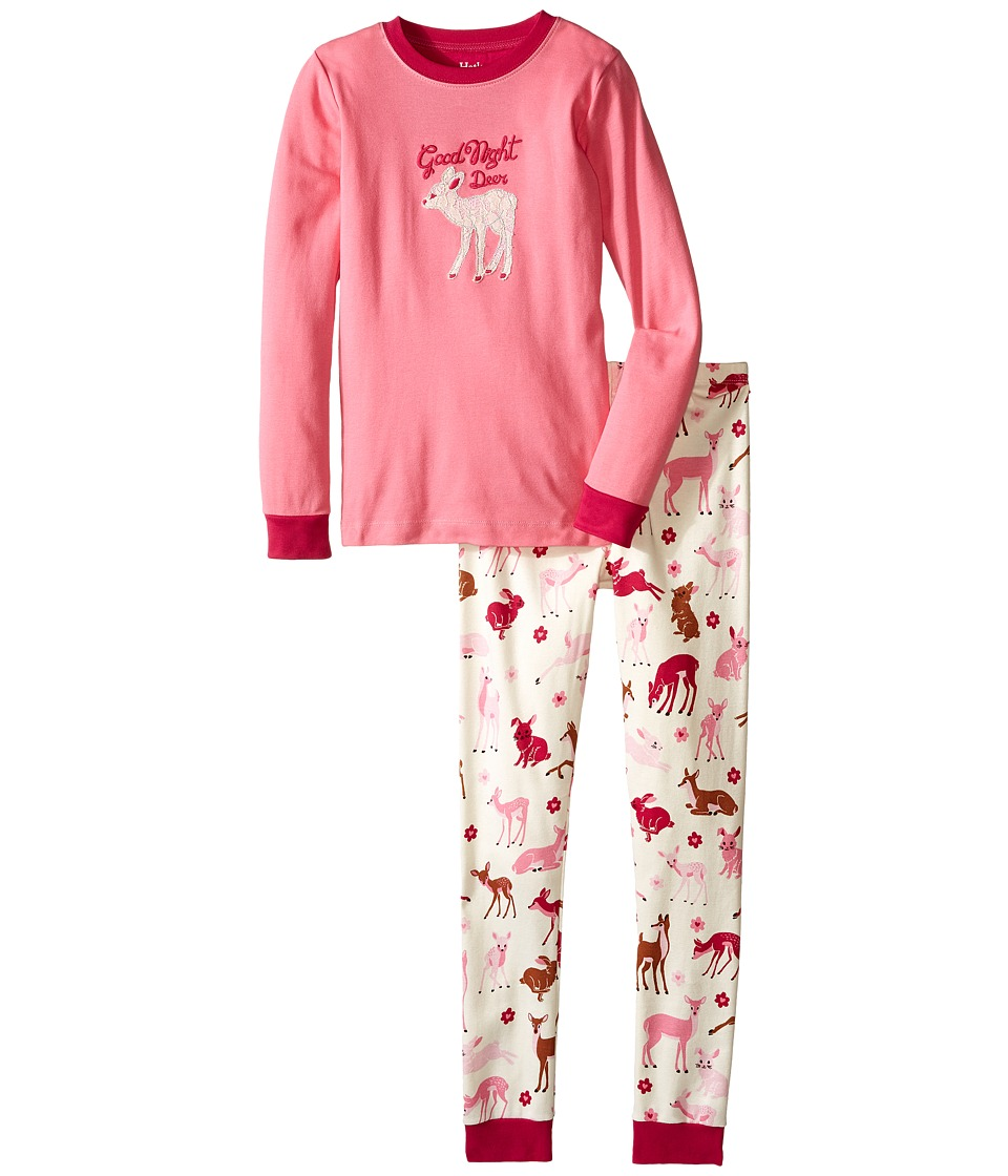 Hatley Kids - Good Night Deer Pajama Set (Toddler/Little Kids/Big Kids) (Pink) Girl's Pajama Sets