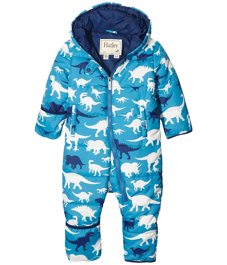 Hatley Kids - Silhouette Dino Winter Bundler (Infant) (Blue) Boy's Coat