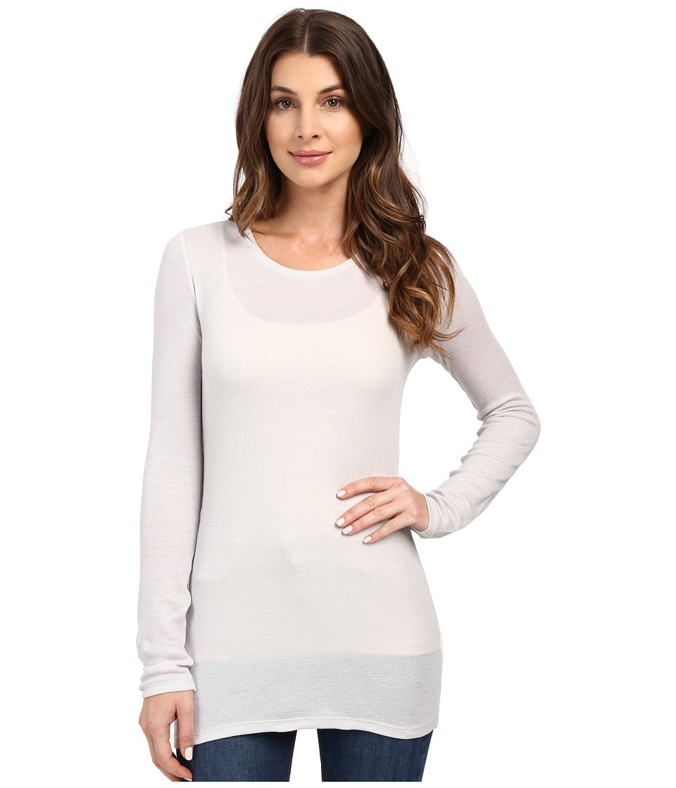 AG Adriano Goldschmied - Logan Long Sleeve (Weathered Ice/True White) Women's Sweater