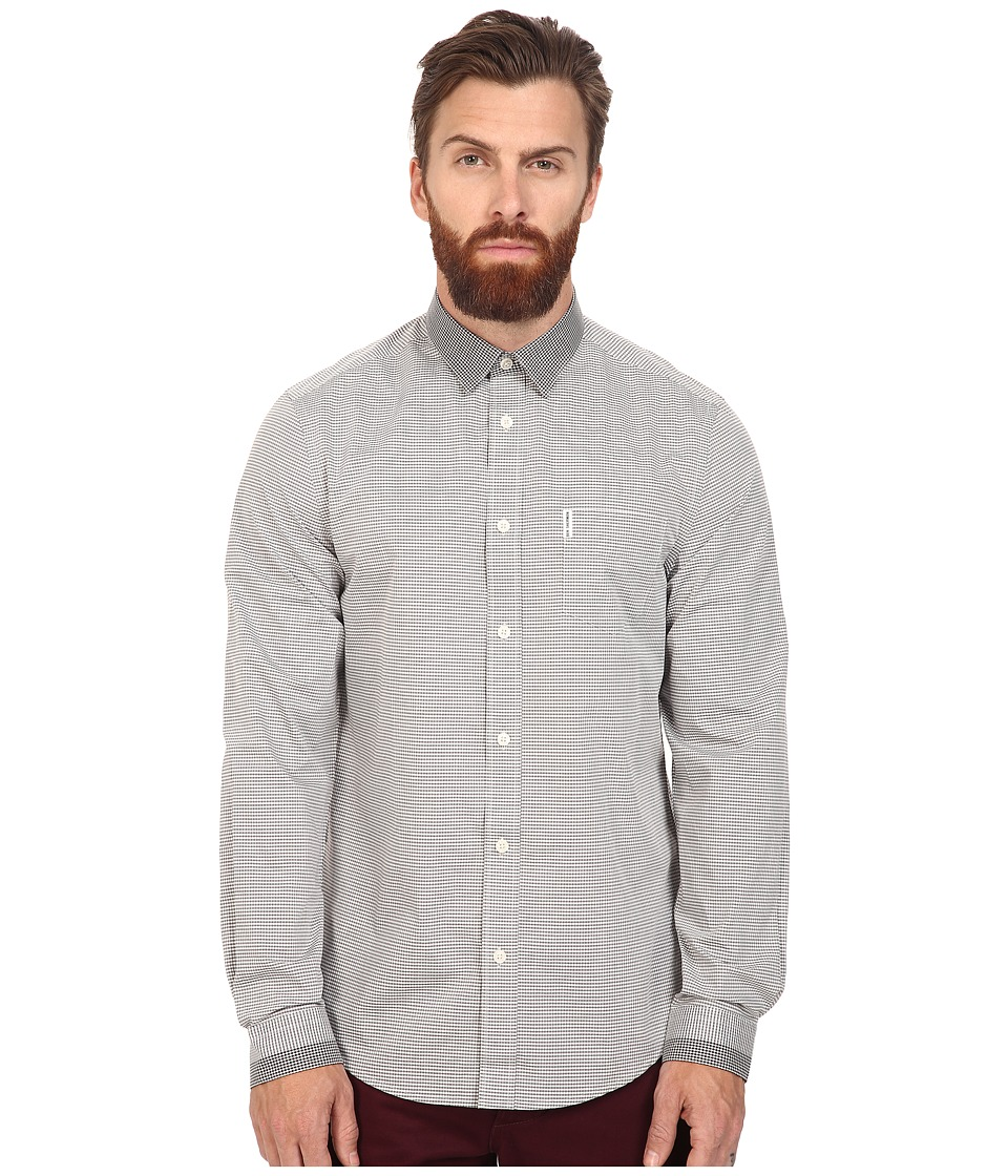 Ben Sherman - Long Sleeve Engineered Contrast Collar Woven (Light Ash) Men's Clothing