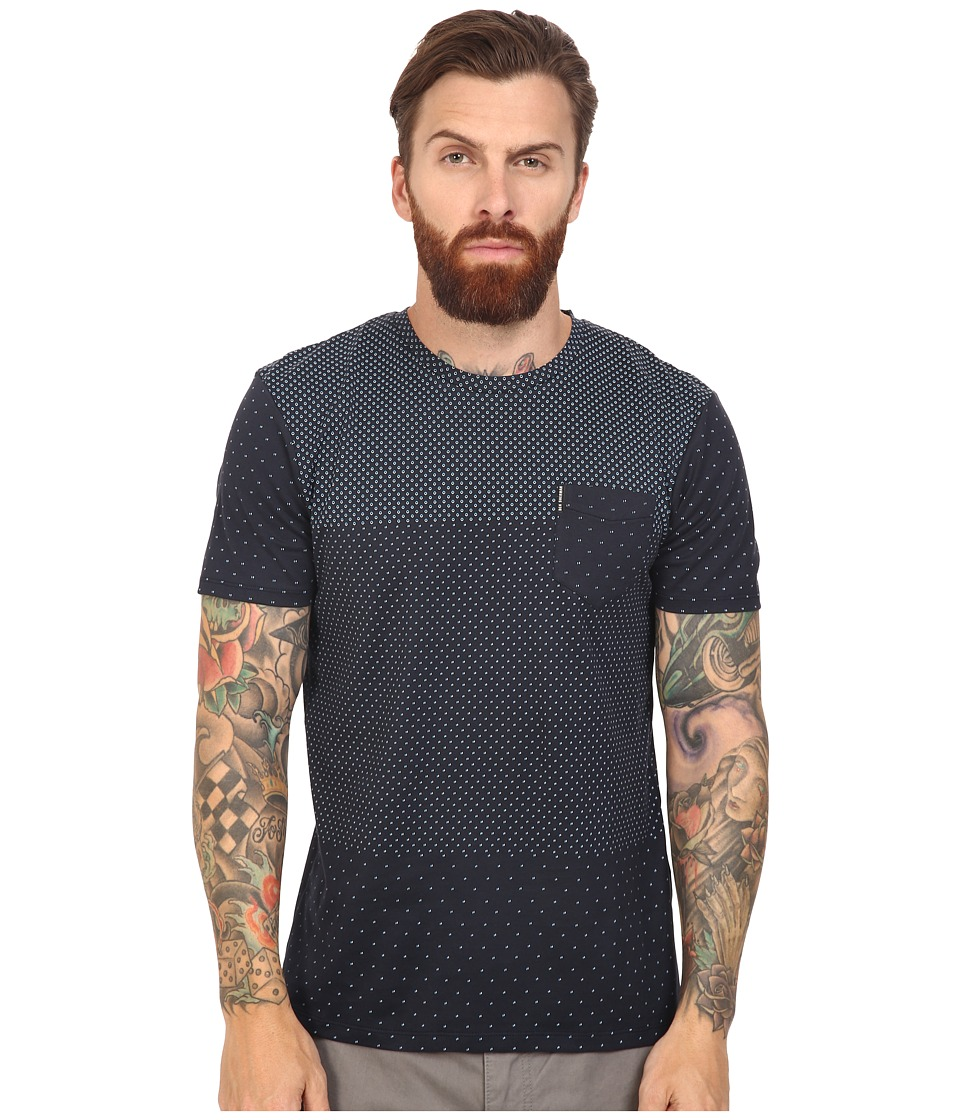 Ben Sherman - Short Sleeve Blocked Micro Print Tee (Staples Navy) Men's T Shirt