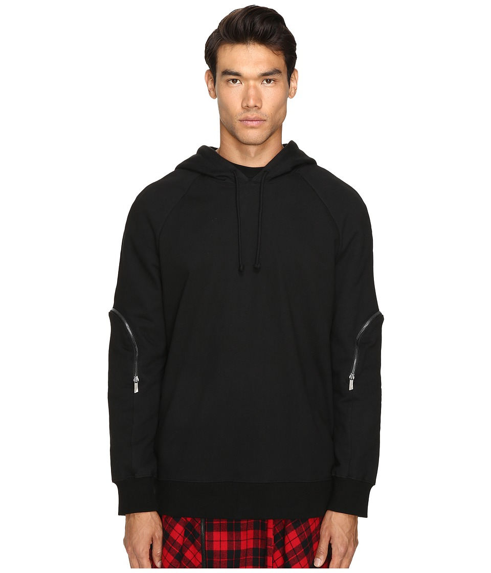 D.GNAK - Zip Sleeve Hoodie (Black) Men's Sweatshirt