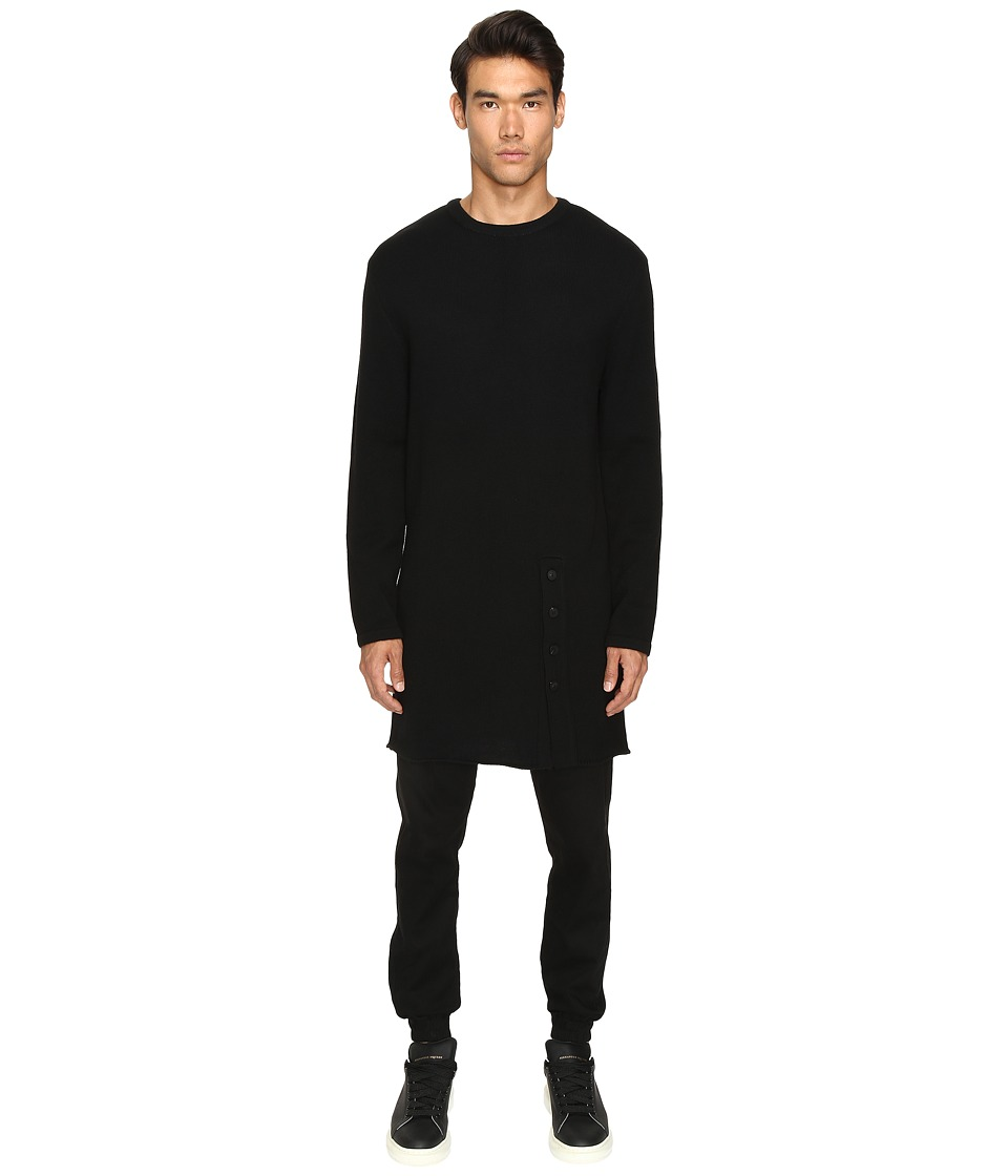 D.GNAK - Knitted Long Pullover (Black/Red) Men's Sweater