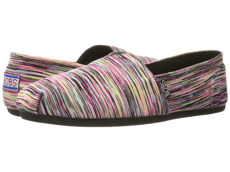 BOBS from SKECHERS - Bobs Plush - Urban Flower (Black/Multi) Women's Shoes
