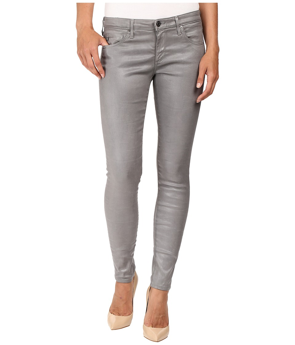 AG Adriano Goldschmied - Leggings Ankle in Leatherette Light Cloud Grey (Leatherette Light Cloud Grey) Women's Jeans
