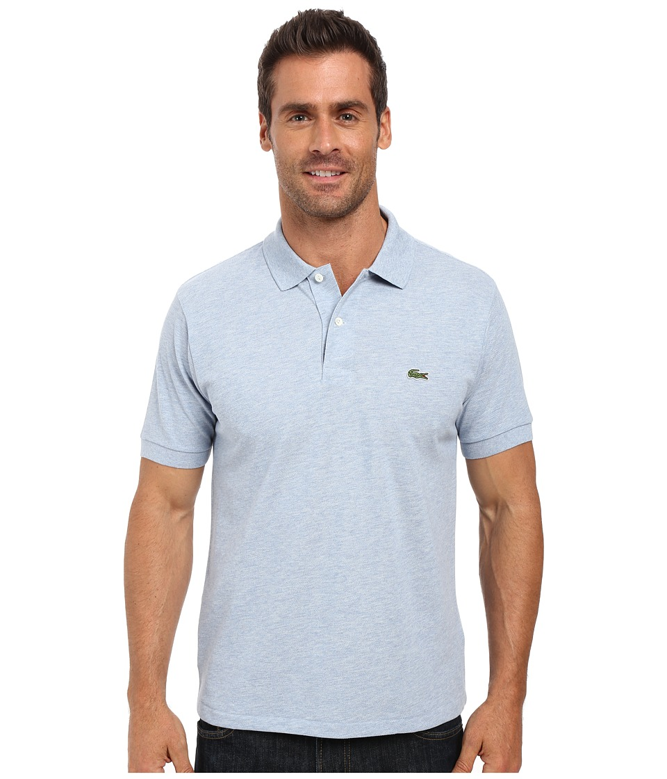 Lacoste - Short Sleeve Original Heathered Pique Polo (Celestial Chine) Men's Clothing