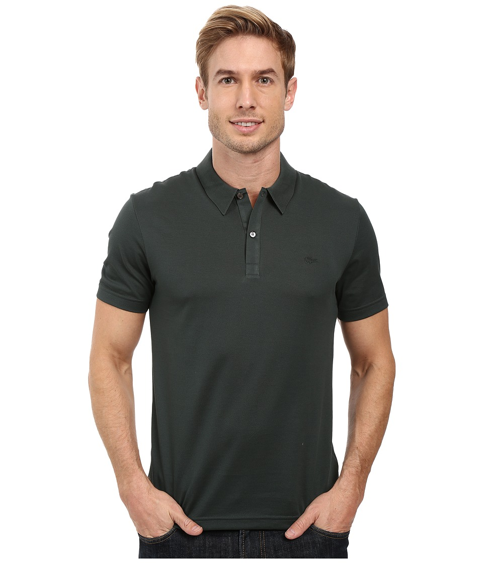 Lacoste - Short Sleeve Mercerized Pique Polo w/ Tonal Embroid Croc (Bronze) Men's Short Sleeve Pullover
