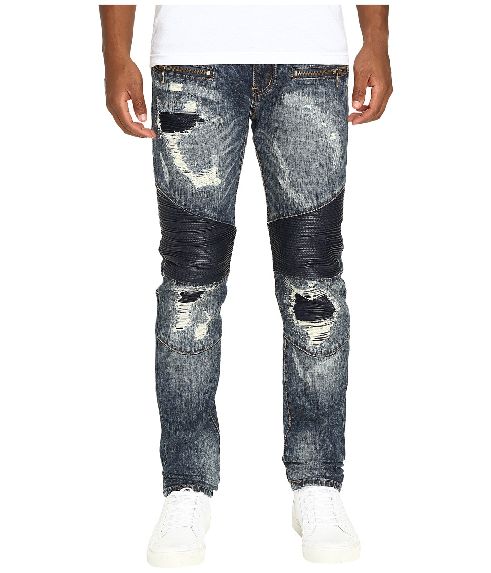 God's Masterful Children - Ferdinand Biker Jeans (Blue) Men's Jeans