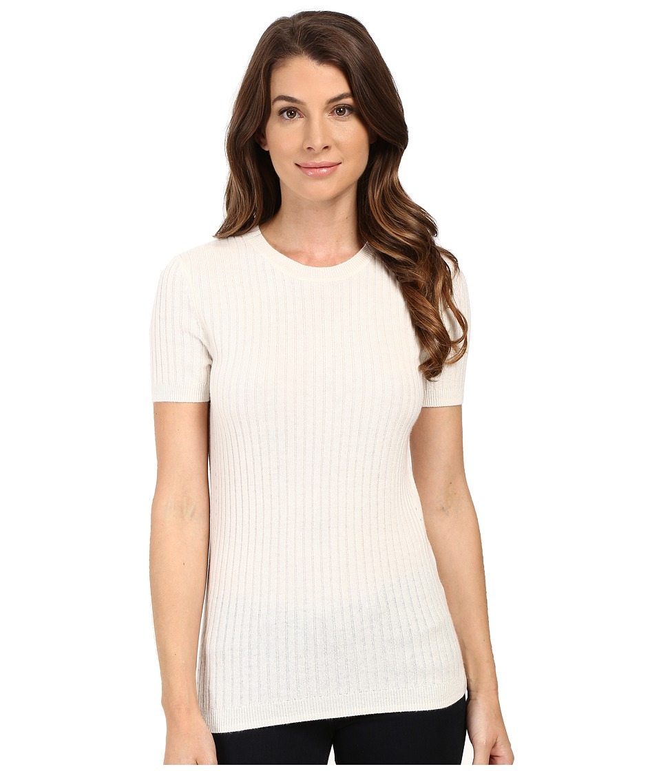 AG Adriano Goldschmied - Rib Fallon Sweater Tee (Powder White) Women's T Shirt