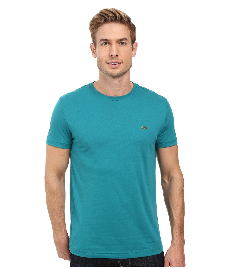 Lacoste - Short-Sleeve Pima Jersey Crewneck T-Shirt (Emerald) Men's T Shirt