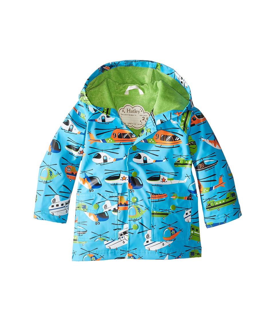 Hatley Kids - Helicopters Raincoat (Toddler/Little Kids/Big Kids) (Blue) Boy's Coat