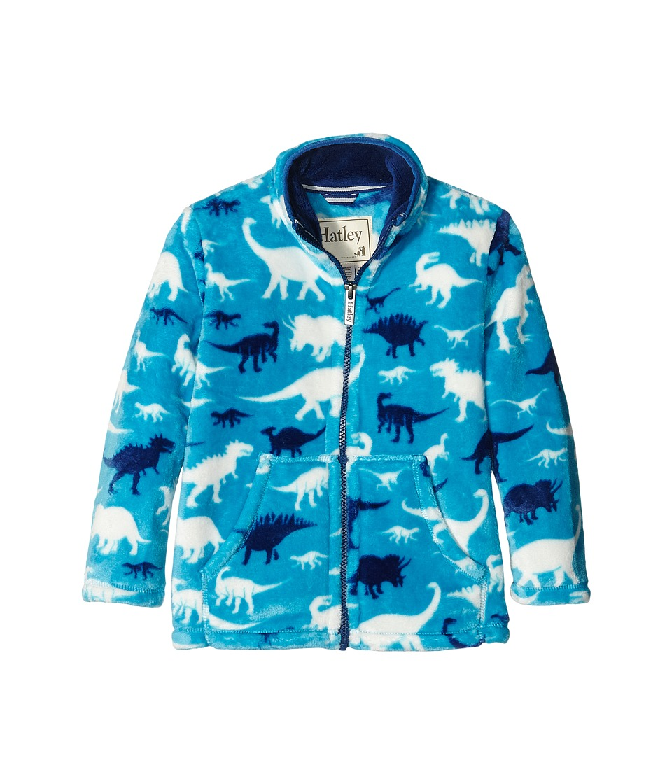 Hatley Kids - Silhouette Dinos Fuzzy Fleece Mock Neck (Toddler/Little Kids/Big Kids) (Blue) Boy's Clothing