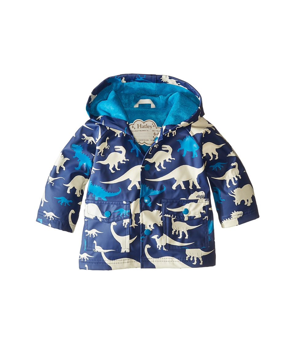 Hatley Kids - Silhouette Dinos Raincoat (Infant) (Blue) Boy's Coat