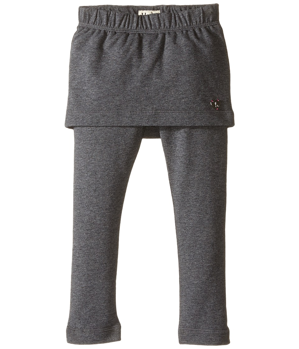 Hatley Kids - French Terry 2-in-1 Skirt Leggings (Toddler/Little Kids/Big Kids) (Grey) Girl's Casual Pants