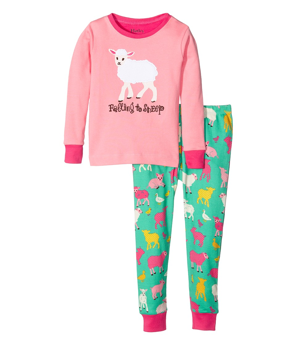Hatley Kids - Falling to Sheep Pajama Set (Toddler/Little Kids/Big Kids) (Pink) Girl's Pajama Sets